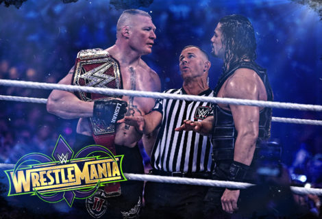 Hustle Photo Book: Brock Lesnar Conquers Roman Reigns in the Main Event of WrestleMania 34