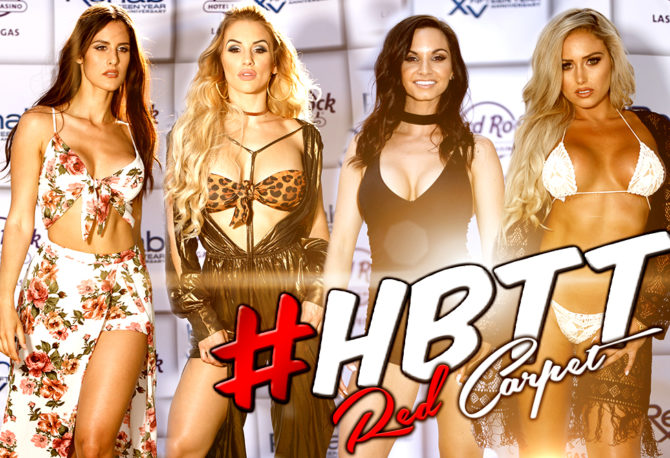 LIVE FROM THE RED CARPET: The #HustleBootyTempTats Supermodels Kick Off the 15th Anniversary of Rehab Beach Club