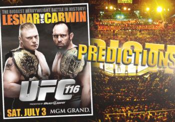 UFC 116 Predictions
