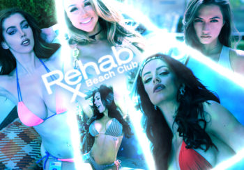 Delia Rose, Engelika Padilla and a Bevy of Beauties at the Hard Rock Hotel and Casino Las Vegas Rehab Pool Party