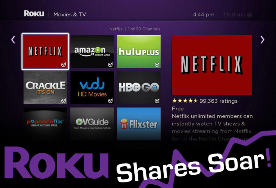 Roku Goes Public, Stock Soars