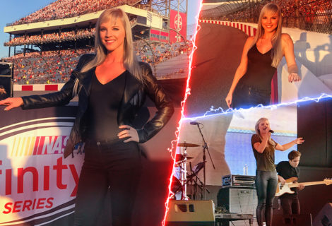 Check Out Kayla Adams Performing the National Anthem Before the NASCAR Mega-Event in Richmond