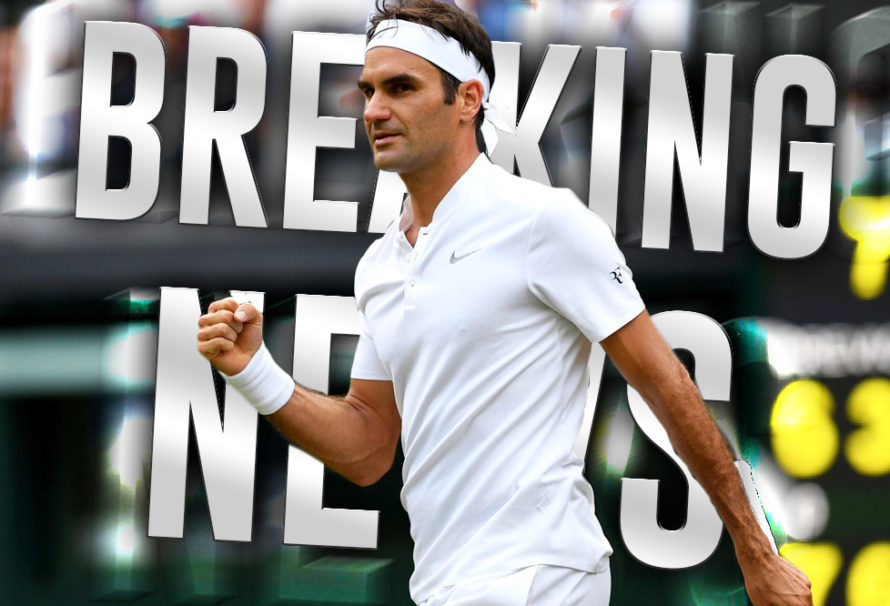 Breaking News on Roger Federer's Opening Round Match at Wimbledon in July