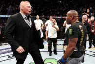 Watch Brock Lesnar Shove New UFC Heavyweight Champion Daniel Cormier