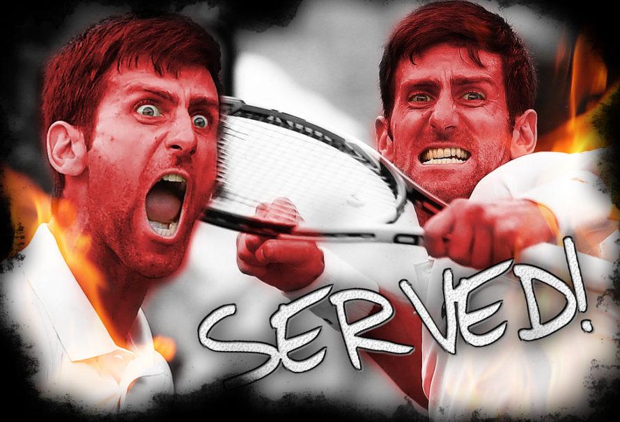 "Djokovic ""Serves"" Wimbledon Crowd"
