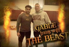 Brock Lesnar Trains with Gable Steveson
