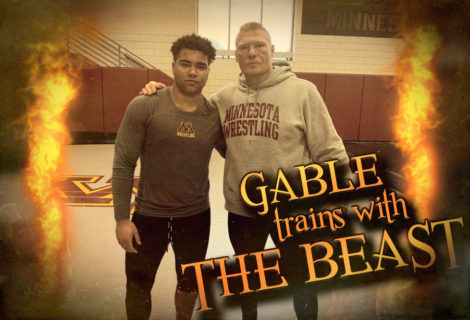 Brock Lesnar Trains with Gable Steveson