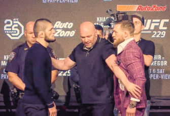 McGregor and Khabib Go Face-to-Face